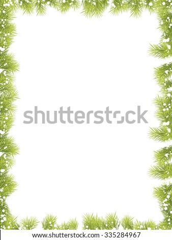 Christmas Fir Tree Frame 2