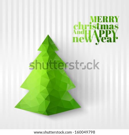 Christmas fir tree. Vector illustration.