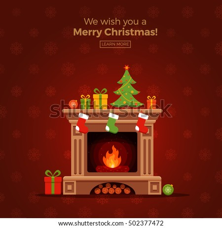 christmas fireplace room