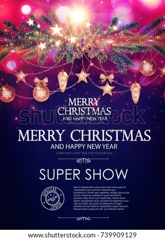 christmas flyer and poster