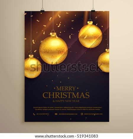 christmas flyer celebration