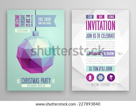 christmas flyer   geometric