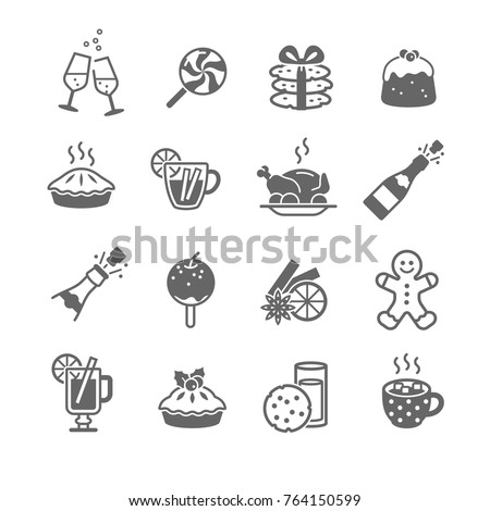 Christmas Food and Drink Icons