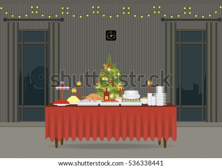 christmas food on the table
