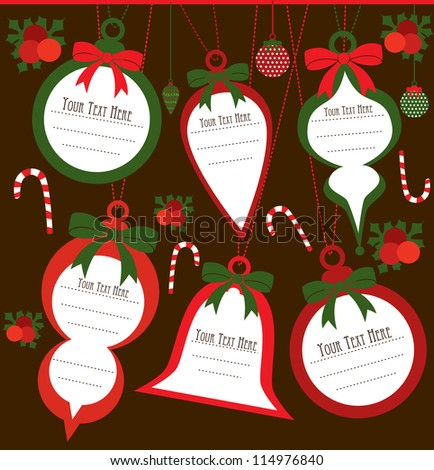 christmas frame set design. vector illustration - stock vector