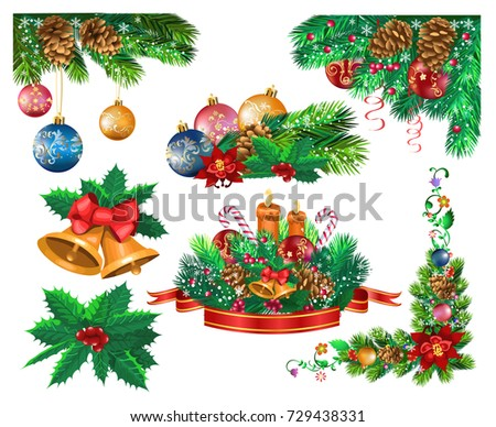 christmas frames and ornaments #729438331