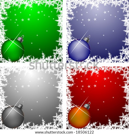 stock vector : Christmas frames collection