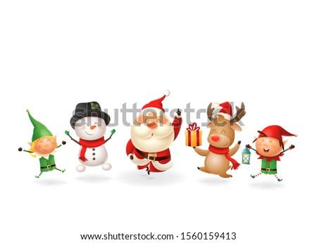 christmas friends elves santa