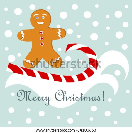 450 x 451 jpeg 35kB, Christmas fun - gingerbread man surfing on candy ...