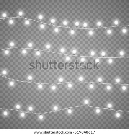 christmas garlands isolation on