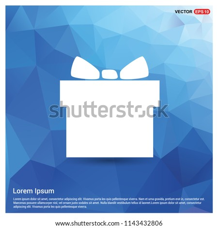 Christmas Gift Box Icon - Free vector icon