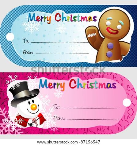 christmas gift card vector
