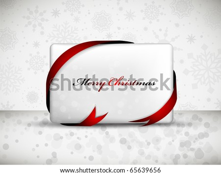Christmas Gift Card with Red Ribbon | Label