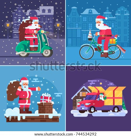 christmas gift delivery concept