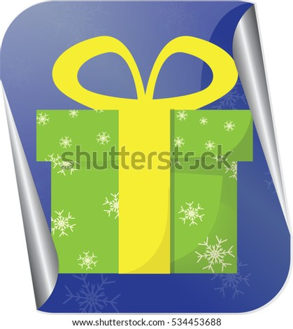 Christmas gift or present vector illustration  #534453688