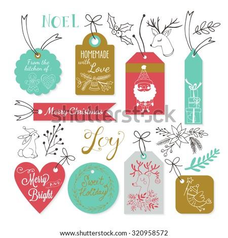 christmas gift tags design with