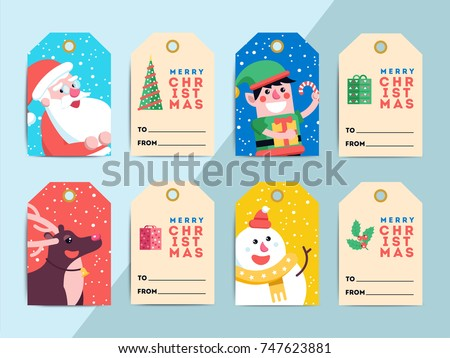 cute santa character with christmas gift vector download free