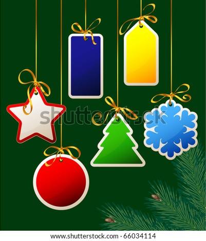 Christmas gift tags. Vector.
