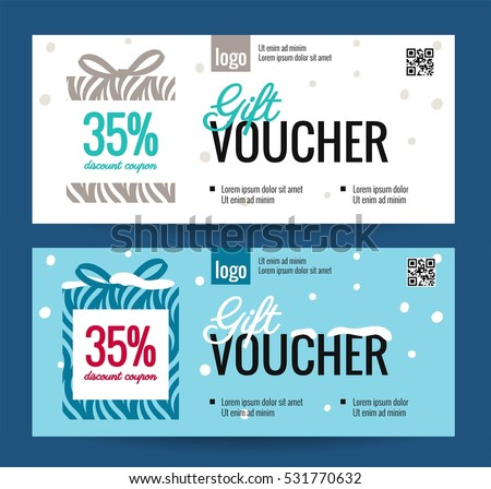 gift voucher templates vector download free vector art stock