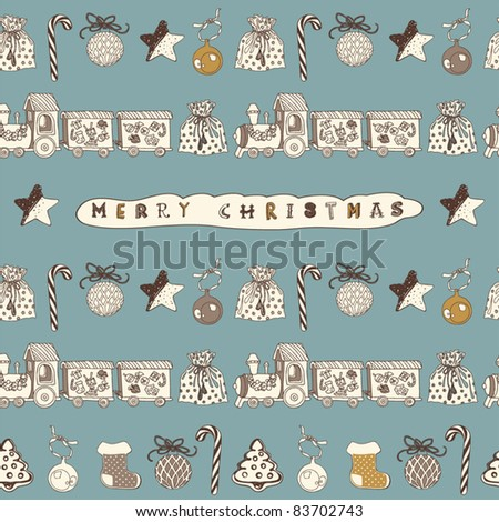Christmas gifts seamless background
