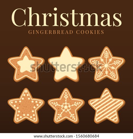 Christmas Gingerbread Cookies Vector Collection