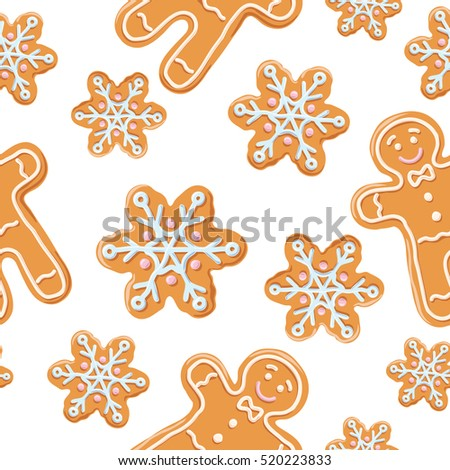 christmas gingerbread seamless