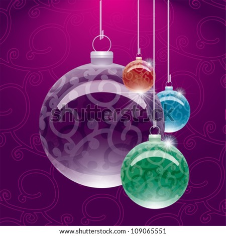 Christmas globe decoration. Easy color change.