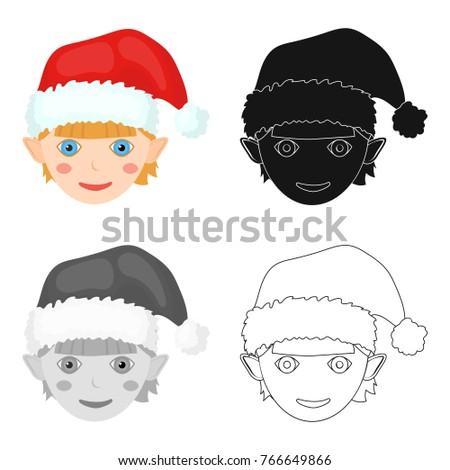 christmas gnome single icon in