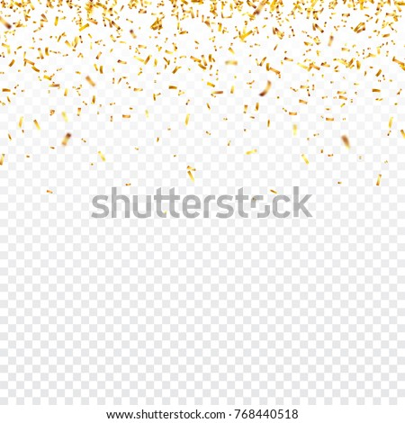 christmas golden confetti