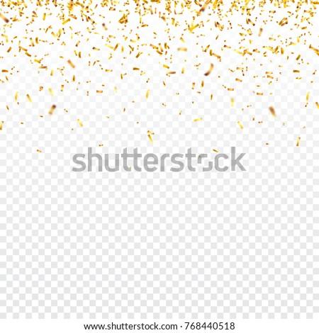 christmas golden confetti