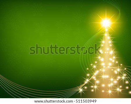 christmas green background with