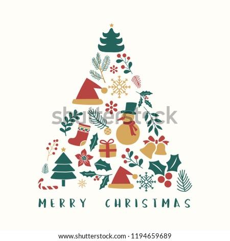 Christmas greeting badge vector