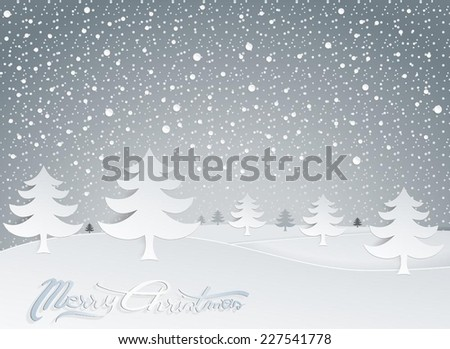 Christmas Greeting Card and Background