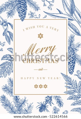christmas greeting card in