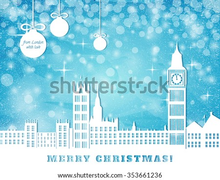 christmas greeting card  london