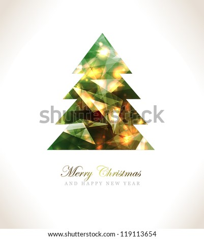 Christmas Greeting Card/Merry Christmas /Christmas tree and background