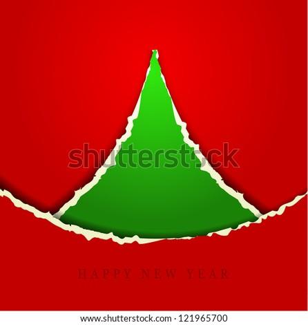 Christmas Greeting Card/Merry Christmas /Christmas tree and background - stock vector