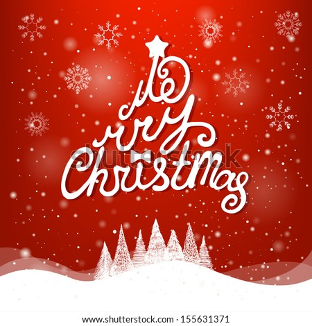 Christmas Greeting Card. Merry Christmas lettering #155631371