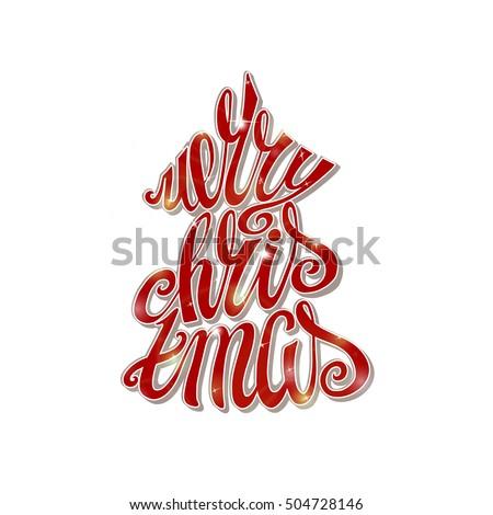 christmas greeting card merry