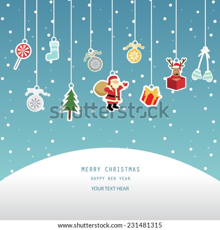 christmas greeting card red background