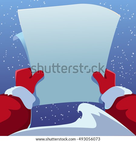 christmas greeting card santa