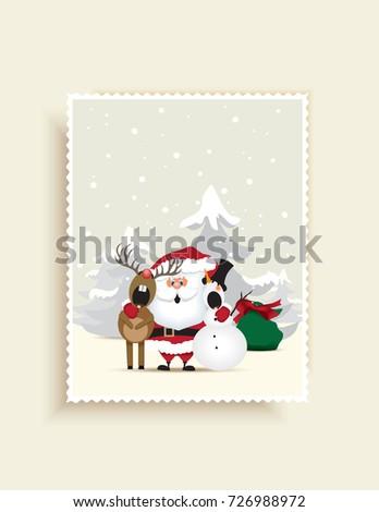 christmas greeting card santa