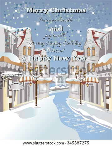 christmas greeting card. snow...