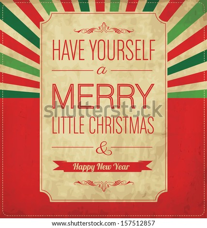 Christmas Greeting Card Typographic Design