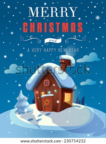 christmas greeting card with a