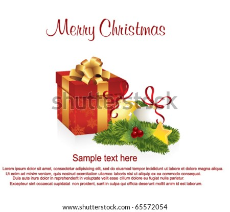 Christmas Greeting Card with Gift Boxes.