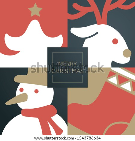 Christmas greeting card. with greeting text