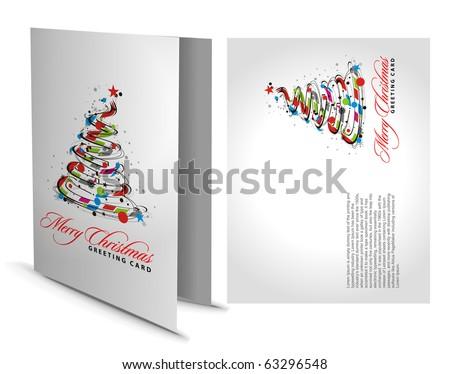 Christmas Greeting Card with Presentation