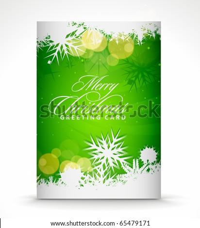 Christmas greeting card with presentation design.
