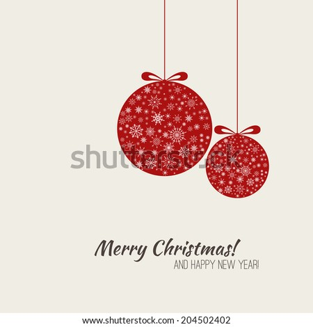 christmas greeting card with